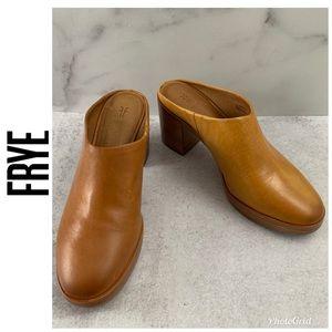 Frye Joan Campus Mustard Yellow Mule Shoes 7 & 7.5